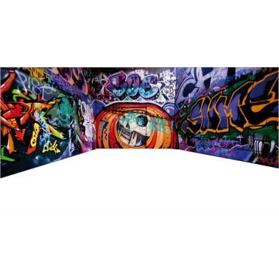 Sticker tag graffiti couloir graff for Stickers muraux couloir
