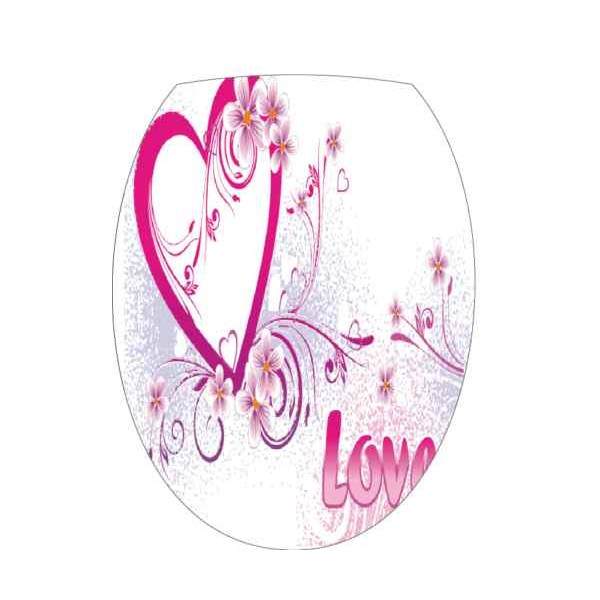 Sticker abattant wc love - Stickers abattant wc ...