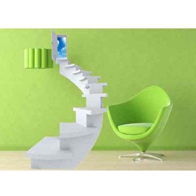 Stickers trompe l il escalier 120x200 cm stickersmania - Stickers trompe l oeil escalier ...