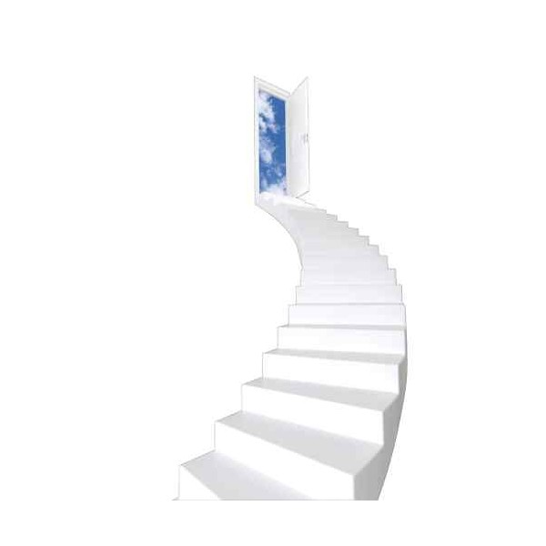 Stickers trompe l il escalier arrondi - Stickers trompe l oeil escalier ...