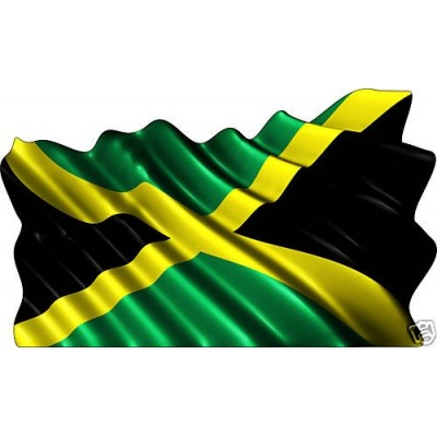 Sticker drapeau jamaicain.