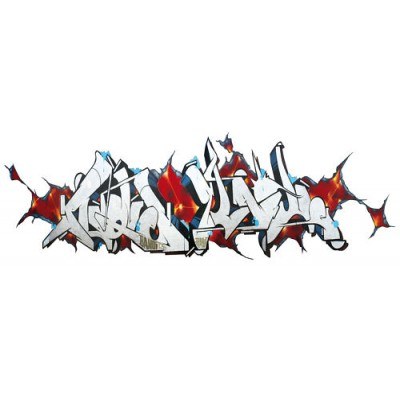 Sticker Tag Graffiti reliefs rouge