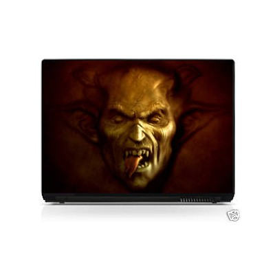 Sticker pc portable laptop skin Monstre
