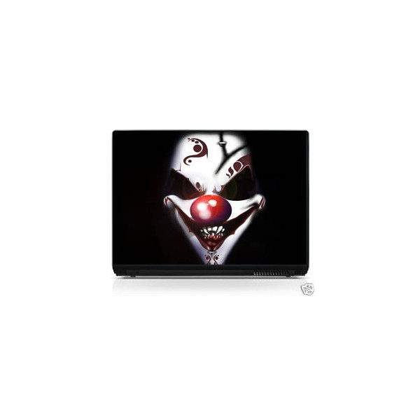 sticker pc portable laptop skin clown stickersmania. Black Bedroom Furniture Sets. Home Design Ideas