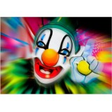 Sticker Clown 90x130 cm