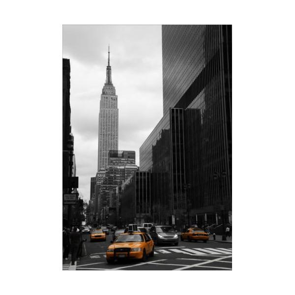 Sticker new york rues noir et blanc for Autocollant mural new york