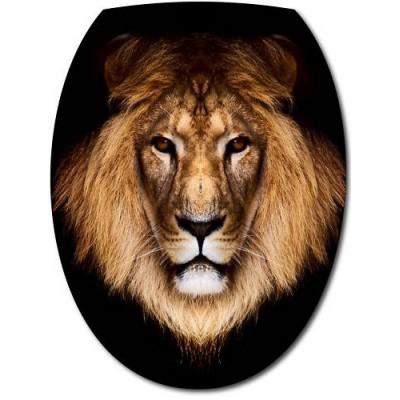 Sticker abattant wc t te de lion - Tete de lion a dessiner ...