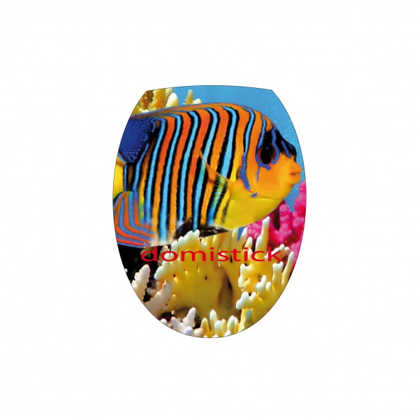 Sticker abattant wc poisson stickersmania - Stickers abattant wc ...