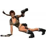 Sticker Tomb Raider 66x100 cm.