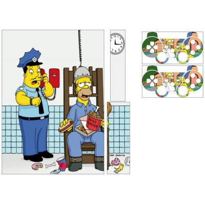 Stickers PS3 + 2 manettes Simpson.