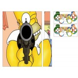 Stickers PS3 Simpson + 2 manettes.
