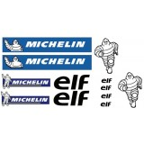 12 stickers Michelin 15x85 cm.