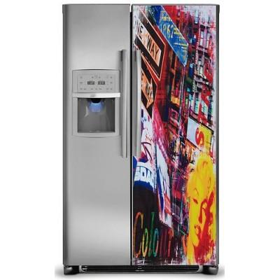sticker d co autocollante frigo am ricain 170x70 cm. Black Bedroom Furniture Sets. Home Design Ideas