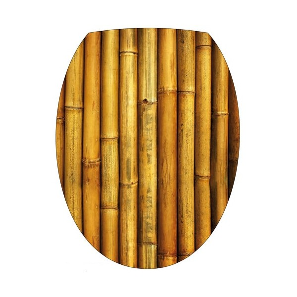 Sticker autocollant abattant wc Bambou marron