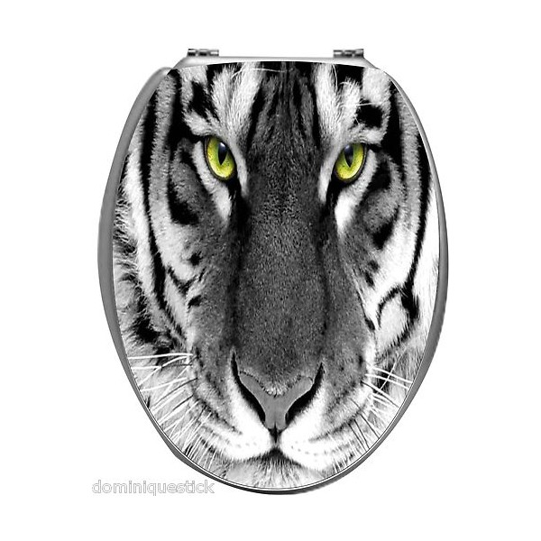 Sticker autocollant pour abattant wc d coration tigre stickersmania - Stickers abattant wc ...