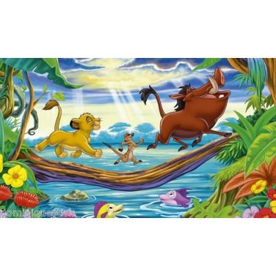 Sticker autocollant enfant d co le roi lion for Decoration chambre le roi lion