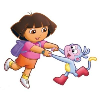 sticker autocollant enfant dora et babouche - Dora Babouche