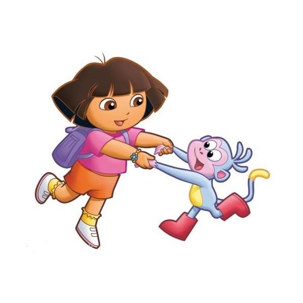 Sticker autocollant enfant dora et babouche - Singe de dora ...