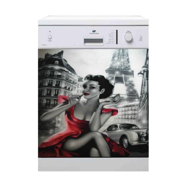 Sticker pour lave vaisselle paris 60 x 60 cm stickersmania for Stickers pour lave vaisselle