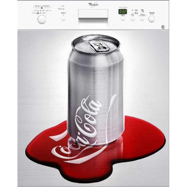 Sticker lave vaisselle d coration coca 60 x 60 cm stickersmania - Stickers machine a laver ...