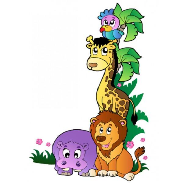 Image Animaux De La Jungle sticker animaux de la jungle 1 - stickersmania