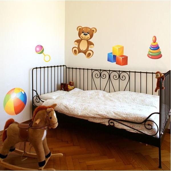 Sticker les jouets de b b 2 stickersmania for Orientation lit bebe