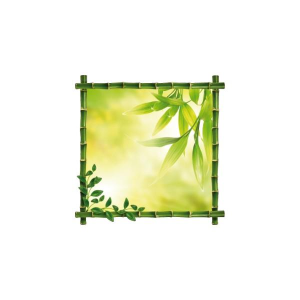 Sticker cadre bambou - Attache cadre autocollant ...
