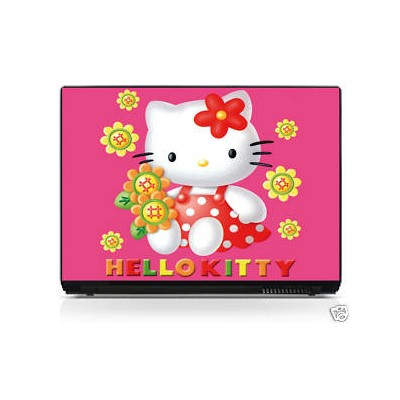 Sticker ordinateur portable Hello Kitty