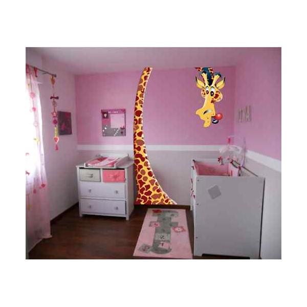 Stickers Girafe Chambre Bebe