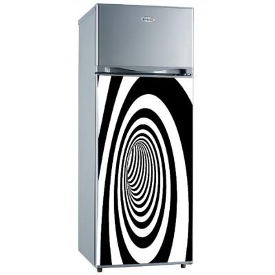 sticker pour frigidaire d co noir et blanc arrondie. Black Bedroom Furniture Sets. Home Design Ideas