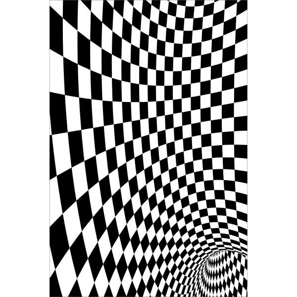 sticker pour frigidaire vision optique noir et blanc. Black Bedroom Furniture Sets. Home Design Ideas