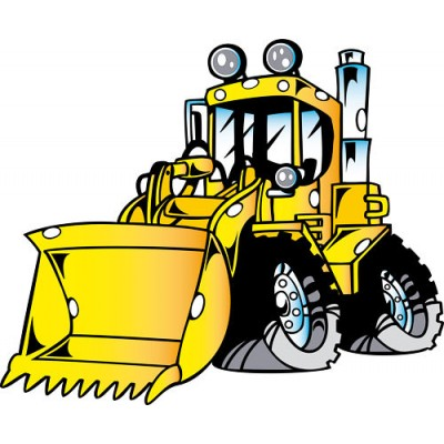 Sticker Mural Bulldozer