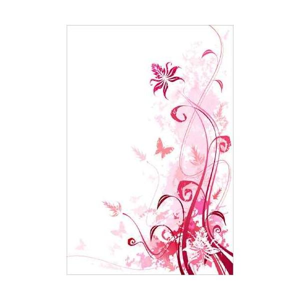 sticker frigidaire d coration fleurs rose. Black Bedroom Furniture Sets. Home Design Ideas
