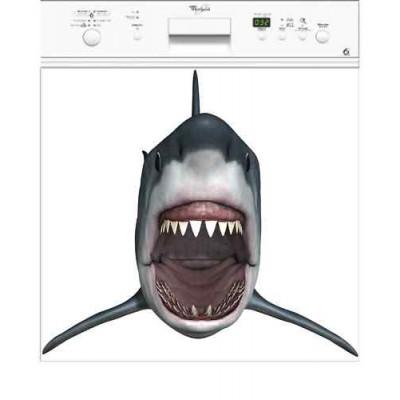 Sticker autocollant pour lave vaisselle d coration requin for Requin decoration