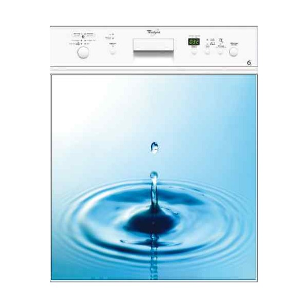 Sticker pour lave vaisselle d coration goutte d 39 eau 60 x for Consommation d eau pour un lave vaisselle