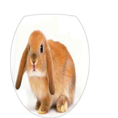 Sticker abattant wc lapin