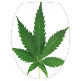 Sticker abattant wc Cannabis réf T147T 28x36.6 cm